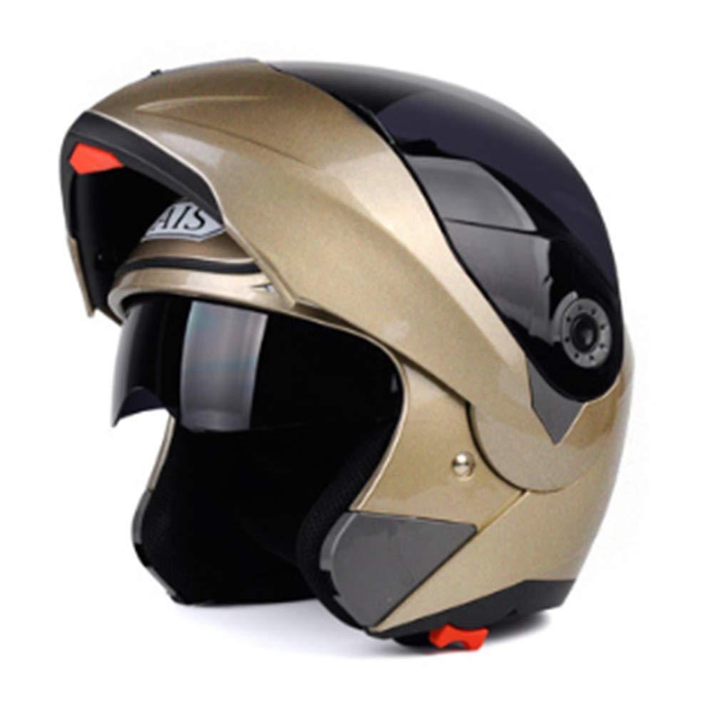 Hope Caschi Moto da Cross Full Face off Road Casco modulare Casco da Ciclismo Mountain Bike Caschi Antivento antinebbia con Visiera Parasole per Uomo Donna,A-L