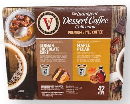 Victor Allen's GERMAN CHOCOLATE CAKE & MAPLE PECAN Coffees 42 Single Serve Cups