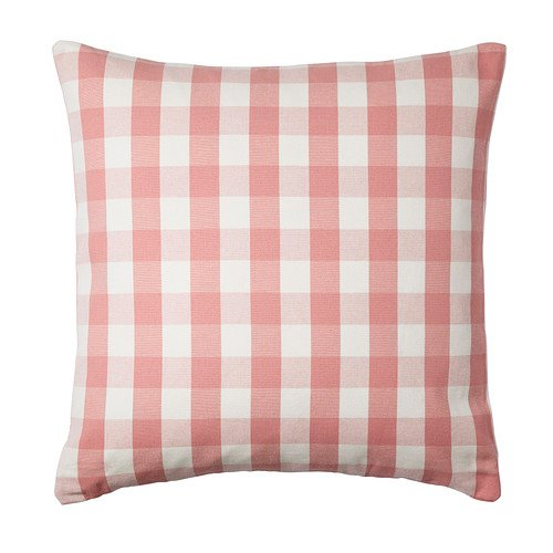 IKEA SMANATE - Funda de cojín, blanco, rosa - 50 x 50 cm ...