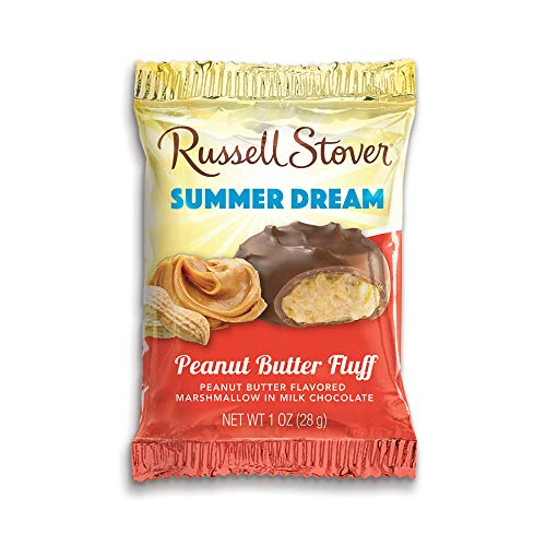 Russell Stover Milk Chocolate Peanut Butter Fluff Marshmallow, 1 Ounce, 36 Count ()
