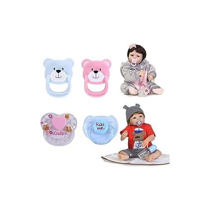 DOGZI 2PCS/4PCS El más Nuevo Pezón magnético Moda Muñecas de simulación Muñeca renacida Juguete de Bebe Lindo Regalo Pezón del bebé