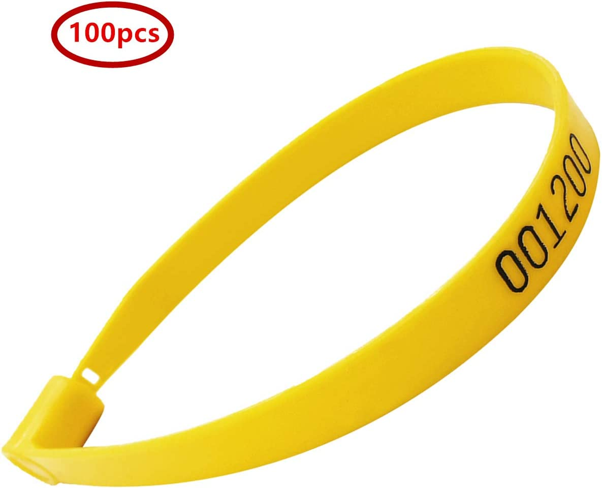 ghdonat.com Office Products Tag Fasteners & Bag Seals Yellow ...