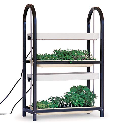 Burpee Home Professional Two Tier Grow Light | Two Wide Spectrum Bulbs | For Indoor Growing and Seed Starting
