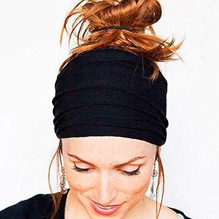 GUODAIUP Bande De Cheveux Nouveau Femmes Bandeau De Cheveux Doux Large Stretch Stretch Running Yoga Turban Head Wrap Foulard Accessoires De Cheveux