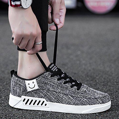di Size Gray Color tendenza estive in 41 YaNanHome uomo coreano Scarpe basse uomo di Scarpe da tela tela stile Bianca traspirante di scarpe Espadrillas da scarpe xpgqAwU