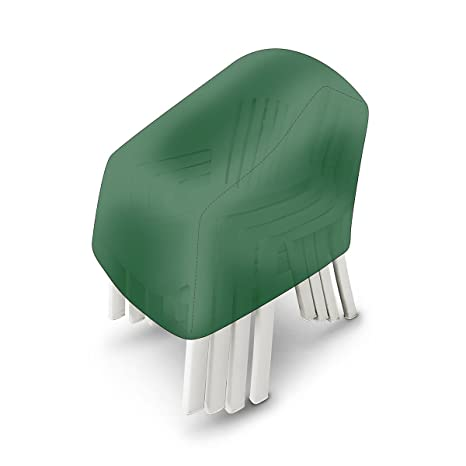 Sensational Relaxdays Stackable Garden Chair Cover Green Short Links Chair Design For Home Short Linksinfo