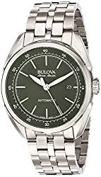 Bulova Men's Automatic Stainless Steel Casual Watch, Color:Silver-Toned (Model: 63B193)