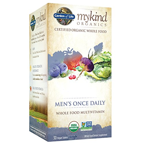 Garden of Life Multivitamin for Men - mykind Organic Mens Once Daily Whole Food Vitamin Supplement, Vegan, 30 Tablets