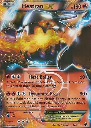13//116 Ultra Rare Plasma Freeze Pokemon PL Heatran EX