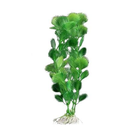 Laat planta acuática artificial Decoration para Acuario Pecera de peces, plástico, c, (