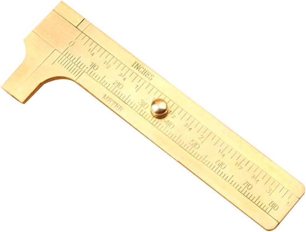 Mini aus massivem Messing Schieblehre Schieblehre 80mm 3.15inch Schmuck Mess Doppelskala