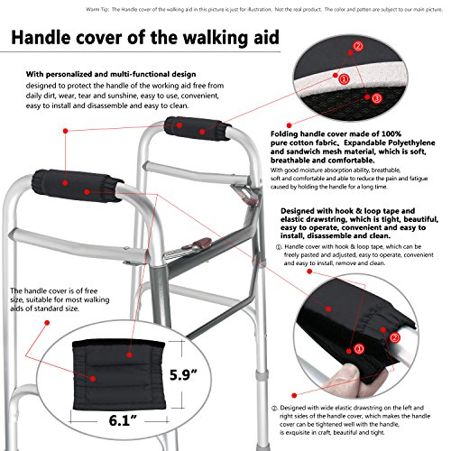 Walker Padded Hand Grip Walker Hand Grip Pads Washable One Size Multiple Colors (WH10) by TOMMHANES AMISGUOER (Image #4)