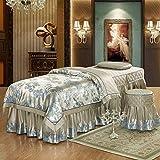 YXLJYH European Luxury 4 Piece Silk Massage Table Sheet Sets...