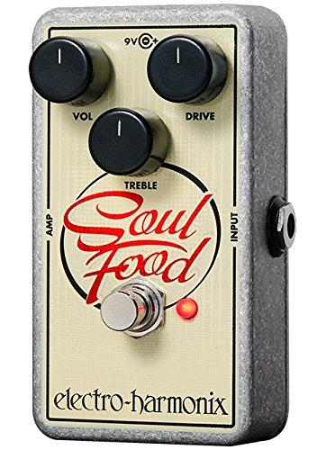 Electro Harmonix Soul Food Distortion Fuzz Overdrive Pedal