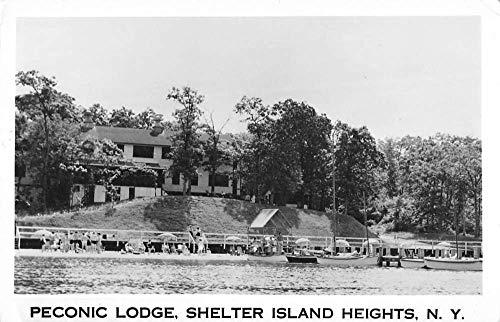 Shelter Island Hts New York beach bathers Peconic Lodge real photo pc ZA440699