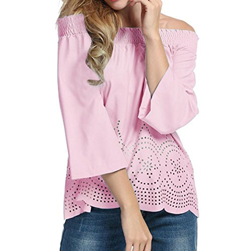 Mr. Macy ❤️Women Blouse Women Long Sleeves Off Shoulder Casual Blouse T Shirt Tops (S, - Women Macy S