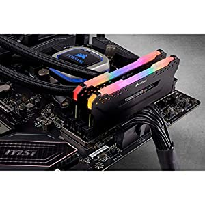 Corsair Vengeance RGB PRO 16GB (2x8GB) DDR4 2666MHz C16 LED Desktop Memory, Black