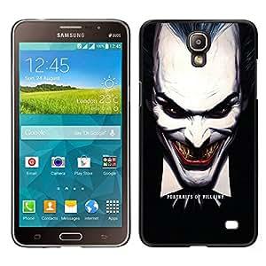 LECELL--Funda protectora / Cubierta / Piel For Samsung Galaxy Mega 2 -- Joker Evil --