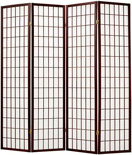 Screen Gems Shoji Screen Ch Room Divider, 4panels, Cherry
