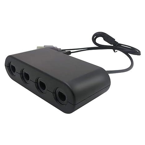 Gimax 4 Ports Player für GameCube Controller Adapter für Wii-U oder PC Griff Kombinierter Konverter Adapter