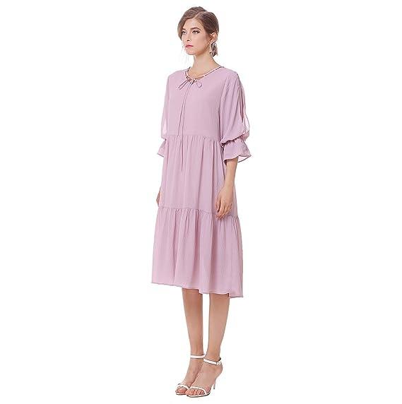 HZFF Europa y los Estados Unidos, las mujeres embarazadas vestir ropa de grasa cuello V código de vestimenta suelta: Amazon.es: Ropa y accesorios