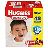 Health & Personal Care : HUGGIES Snug & Dry Diapers, Size 6, 80 Count (Packaging May Vary)