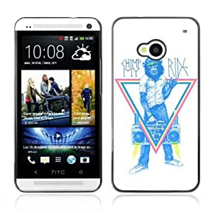 YOYOSHOP [Funny Monkey Hipster Sign] HTC One M7 Case