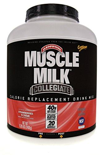 Lean Mass Complex Meal - Muscle Milk Collegiate Protein Powder, Strawberries 'N Crème, 20g Protein, 5.29 Pound