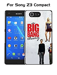 Cute Z3 Compact Funda Case, The Big Bang Theory Logo Protective Customized [Shockproof] & [Perfect Fit] Black For Sony Xperia Z3 Compact (Only Fit For Z3 Compact) Funda Case