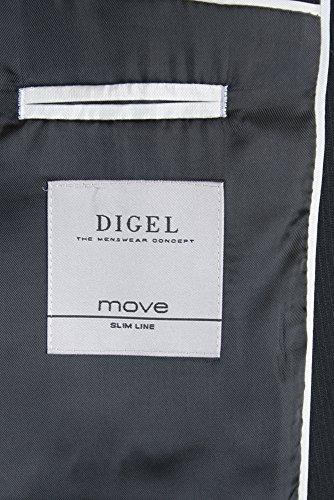 DIGEL Anzug Schwarz ALLAN 2-Knopf MOVE SLIM LINE
