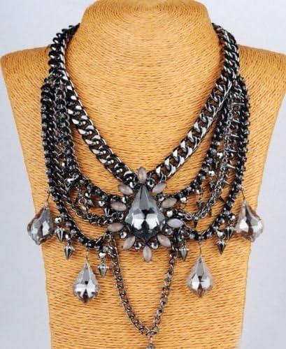 Estilo Zara negro Shourouk estuches de Boho perfecto para vestir collar con colgante en forma diseño gótico estilo Tribal: Amazon.es: Joyería