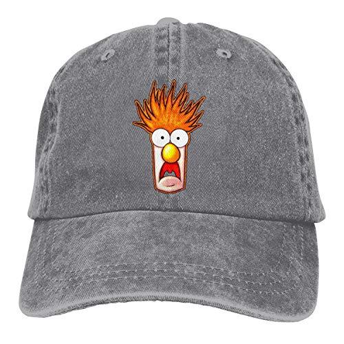 Sbbiegen886wo Man's Women Hip Hop Beaker The Muppets Face Adult Cowboy Headgear Gray ()