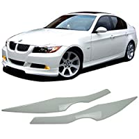 Custom Painted 2006-2011 Bmw E90 ABS Front Eyelid Eyebrow OEM Painted # 300 Alpine White III - Other Color Available Amazon#