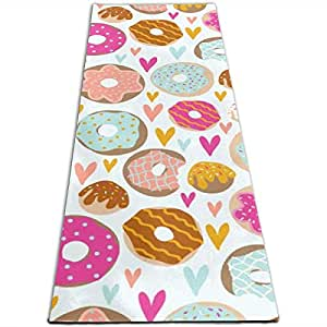 Amazon.com: Milyla-ltd Donut Love Non-Slip Unique Hot Yoga ...