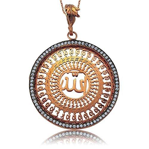 KOKANA Allah Islam Muslim God Pendant Necklace (Best Zikr Of Allah)