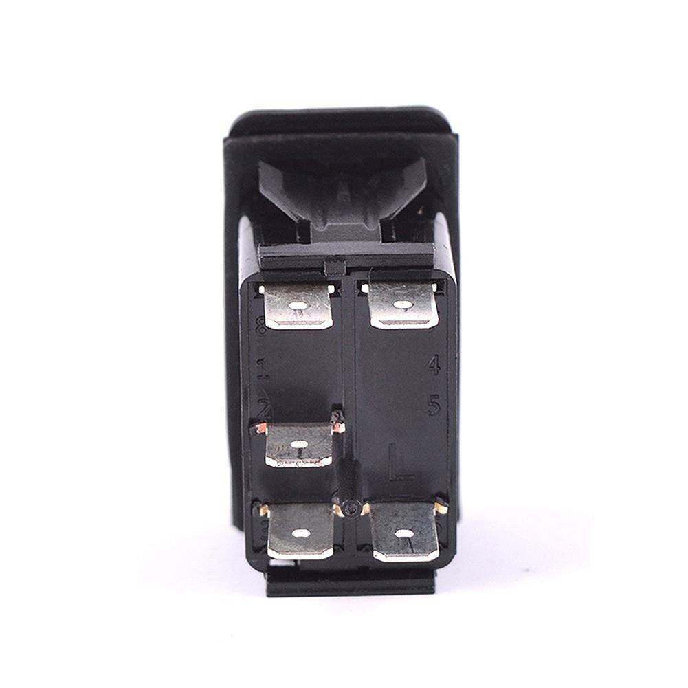 KG-L05 Blue Backlit Ronben Laser Rocker Switch Backlit Car Running Daytime Fog Driving Light Bar 5PIN On-Off 12V 20A