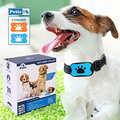 🥇 Adiestramiento para Perros Collar Antiladridos Excesivos | Entrenamiento Canino sin Choques Eléctricos con Sonido y Vibración Seguro y Humano | Ideal en Razas Pequeñas Medianas y Grandes