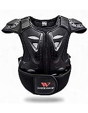 WOSAWE Kids Childrens Body Armour Motocross Borst Rug Protector Motorfiets Body Guard Vest voor Dirt Bike Snowboarden Skiën Schaatsen Scooter S