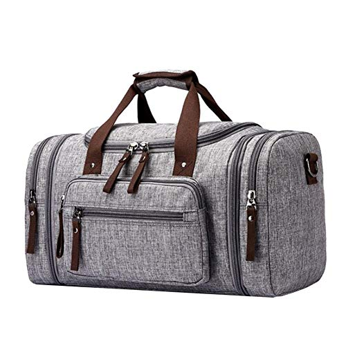 a2265a141 AMAKER Waterproof Gym Canvas Duffel Bag Ultra Light Foldable Outdoor Travel  Sports Luggage Handbag Holdall Weekend Backpack Large Round Shoulder Bag -  ...