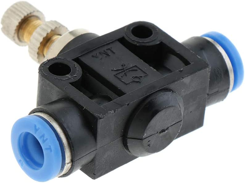4 mm Hochwertig und Haltbar Pneumatisches Drosselventil Durchflussregler Schnellkupplung durch Schlauch