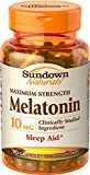 Sundown Naturals Melatonin 10 mg Capsules, 90 Count (Pack of 12)