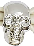 Design Imports Silver Skull Halloween Napkin Rings - Set of 4