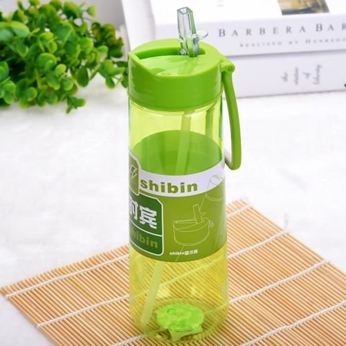 Kids Water Bottles Bulk, Portable Travel Bottle Water Cup Leak-proof Plastic Sports Straw Cup Bottle, Material Plastic