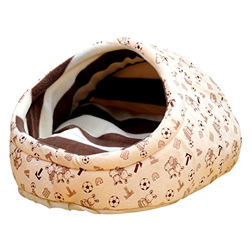 Cat Sleeping Bed (Archi Puppy Beds Covers Dog Cave Beds Slipper Shape Kennel Pet Bed Doggy Cat Sleeping House (Khaki))