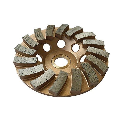 "Grinding Wheels for Concrete and Masonry 4"" Diameter 16 Turbo Diamond Segments 7/8""-5/8"" Arbor"