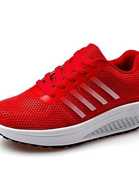 a81c1c5535f 2016 Femme Chaussures en microfibre Tulle Talon Compensé cales confort Nouveauté  Fashion Sneakers