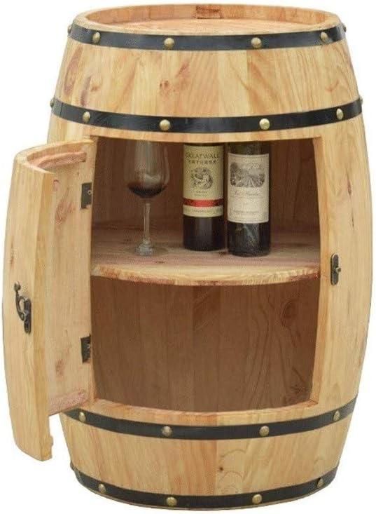 CWC Barril de Roble Bodega decorado barril de cerveza de madera del barril de vino barra de madera de la botella del estante y Pantalla de Cristal estante del gabinete de almacenamiento de madera natu