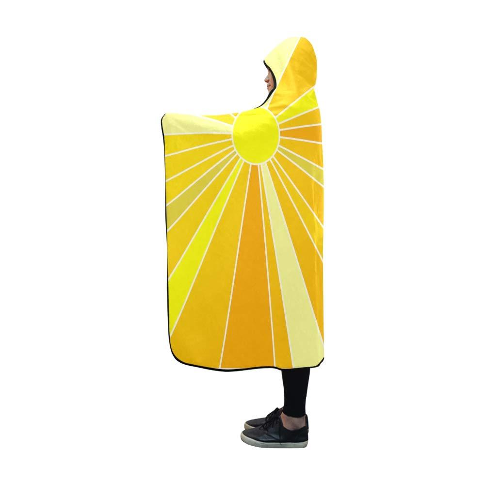 VNASKL Hooded Blanket Sun Rays Solar Sunlight Sunny Light Sunshine Blanket 60x50 Inch Comfotable Hooded Throw Wrap