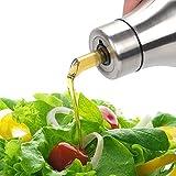 Oil & Vinegar Dispenser - Stainless Steel Olive Oil Bottle, Non drip Pouring Spout,Leak-proof Oil Bottle (500ML)