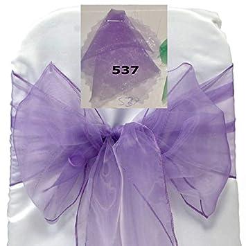 amazon com mds 100 pcs lavender organza chair sashes bows sash